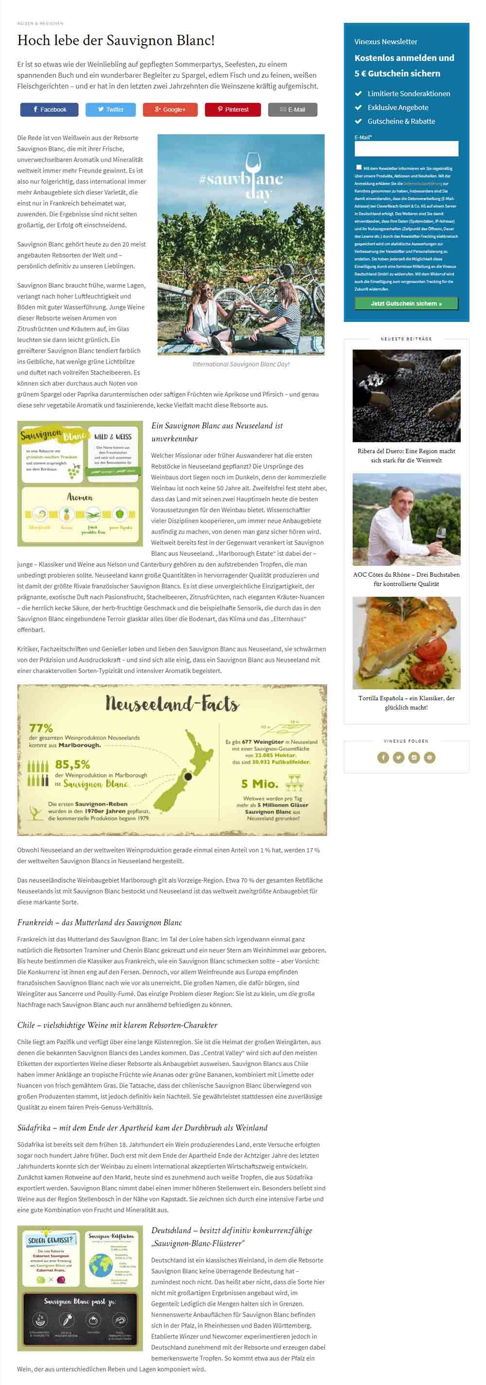 Vinexus Magazin Sauvignon Blanc Day Beitrag